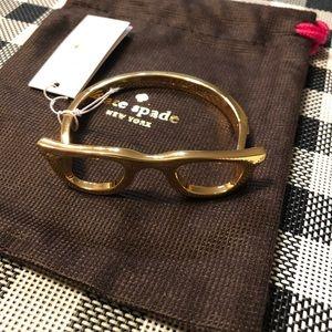 Kate Spade Gold Lookout Glasses Bracelet